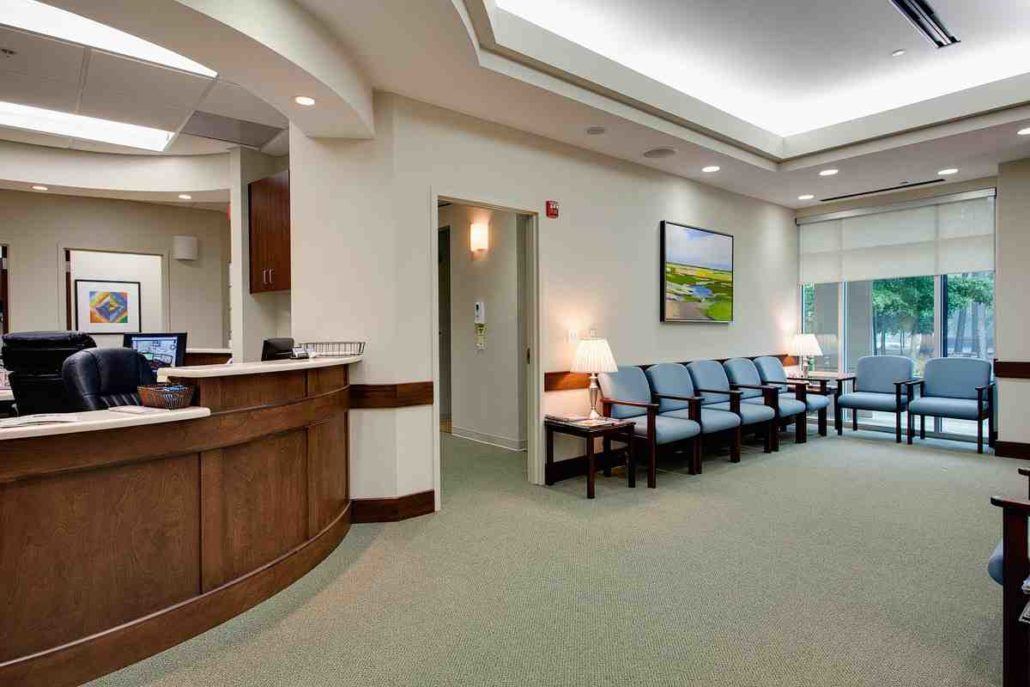 healthcare marketing - medical clinic empty waiting room - dentist marketing - Successful Marketing Group 866-411-5152